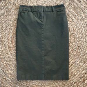 OliveGreen Stretch Pencil Skirt New York & Company